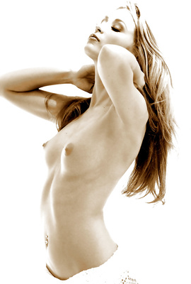 Monique Alexander showing what erotic nude art is!